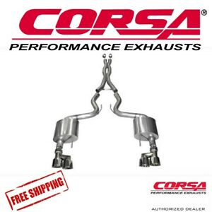 Corsa 3 0 Xtreme Axle Back Exhaust Kit Quad Tips For 15 17 Mustang Gt 5 0 V8