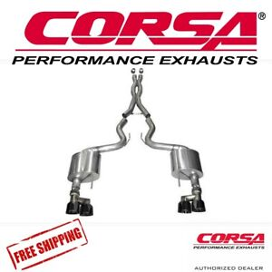 Corsa 3 Xtreme Axle Back Exhaust Kit Blk Quad Tips For 15 17 Mustang Gt 5 0 V8