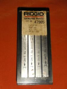 Genune Ridgid 1 4 20 Unc Rh Universal Steel Bolt Dies 47985 sealed