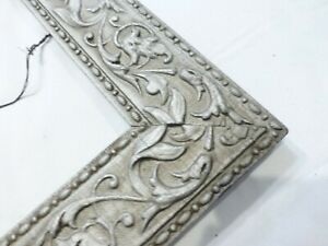 Antique Large Picture Frame Silver Decorative 12 X 20 3 Wide