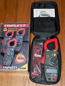Triplett Model 9320 Clamp on Meter Professional 9000 Series True Rms Ac dc Ln