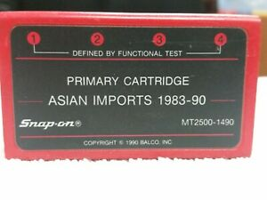Snap On Troubleshooter Mt2500 1490 Primary Cartridge Asian Imports 1983 90