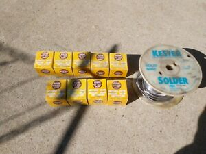 Vintage Kester Lot Of 1 Lb 40 60 And 50 50 44 Resin Core Solder And A Spool