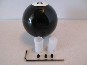 8 Black Billiard Ball Shift Knob Hot Rod Rat Rod Custom Classic 70025