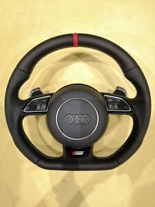 Audi S Line Flat Bottom Steering Wheel Rs5 Rs6 S3 Tts S6 S7 S4 S5 Ttrs Rs7 Rs4