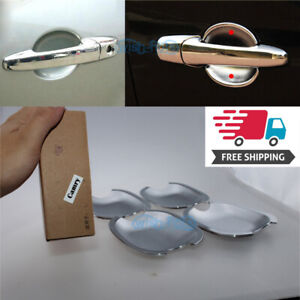 4x Accessories Chrome Door Handle Bowl Covers For For 2012 2014 Toyota Camry S2