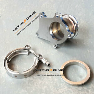 Conversion Adapter Kit T3 T3 t4 5 Bolt Turbo Down Pipe Flange To 3 0 Inch V band