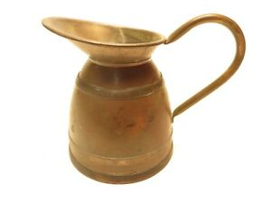 Antique Peerage Brass Pot Made In England 5 Tall Aa1b418