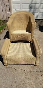 Lloyd Loom Lloyd Flanders Wicker Rocking Chair And Ottoman Nice
