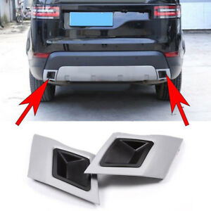 2xauto Car Back Tail Exhaust Cover Trim For Land Rover Discovery5 Lr5 L462 Parts