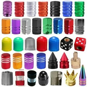 4 10 100x Universal Car Truck Bike Air Port Cover Tire Rim Valve Wheel Stem Caps