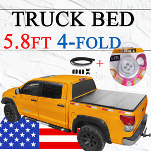 Bed Truck Tonneau Cover For 09 18 Dodge Ram 1500 W O Ram Box 5 8ft 5 7ft 4 Fold