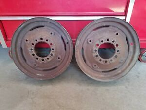 Ford 8n Tractor Front Wheel 6 Bolt Wheel Implement Rims 5 50 16in 6 Bolt