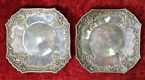 Tray Couple Silver Punched 800 100 Rococ Style Italy Twentieth Centur