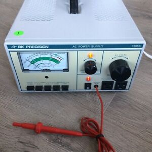 Bk Precision 1655a Ac Power Supply Variable 120v 600va With Leakage Probe Used