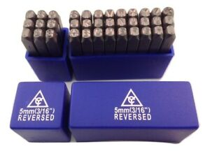 Reversed 36pc 3 16 5mm Steel Letter And Number Stamp Punch Die Set