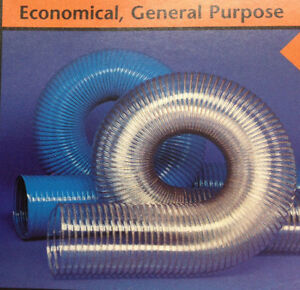 3 id Cvd Clear Pvc Hose ducting With Wire Helix 25 Ft