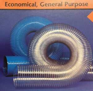 6 id Cvd Clear Pvc Hose ducting With Wire Helix 25 Feet