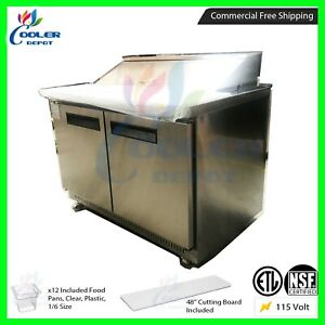 Sandwich Salad Prep Table 48 Commercial Refrigerator Nsf Cooler Depot Usa New