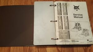 Bobcat 751 753 763 773 Includes h Series For 753 Service Manual W Binder