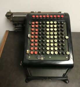 Vintage Burroughs Adding Machine With Stand Made Detroit Michigan