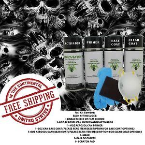 Hydrographic Water Transfer Hydro Dip Full Kit Activator Nightmare Film