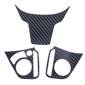 3x Black Steering Wheel Sticker Decal Emblem Fit For Honda Civic 2016 2017