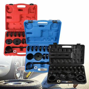 23 Pcs Front Wheel Drive Bearing Removal Adapter Puller Pulley Tool Kit case Om