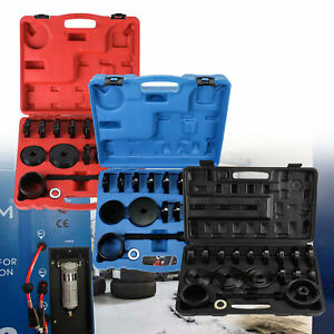 Front Wheel Drive Bearing Removal Adapter Puller Pulley Tool Kit W case 23 Pcs W
