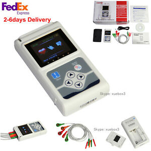 Us Seller 3 channel Tlc9803 Dynamic 24hour Ecg Holter Monitor software analysis