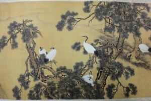 960cm Very Long Old Chinese Scroll Hand Painting 100pcs Birds Shenquan Marks