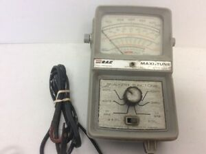 Vintage Rac Maxi Tune Ignition Analyzer Tach Dwell Volts Amps