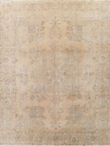 Antique 10 X 12 Oriental Wool Hand Knotted Floral One Of A Kind Persian Area Rug