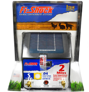 Low Impedance Electric Fence Charger Solar Powered With A 4 Volt Battery