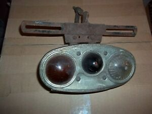 1929 1930 Packard Tail Light Housing With 3 Lenses C m hall Tail Lamp