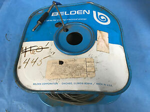 Belden 8241 U 73 Ohm 22 Awg Conductor Wire 80 Conductivity Approx 400