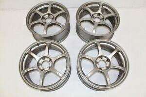 Jdm Advan Racing Rgii Wheels Rims 17x7 5 45 Offset 5x114 3 Rsx Dc2 Rg2
