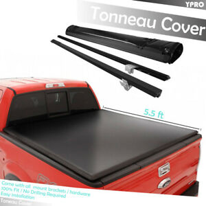 Premium Lock Roll Up Soft Tonneau Cover For 2015 2019 Ford F 150 5 5ft Short Bed