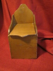 Primitive Wooden Salt Box Wall Mount 1390