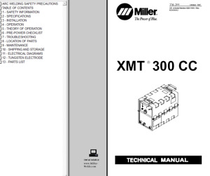 Miller Xmt 300 Cc Service Technical Manual