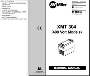 Miller Xmt 304 400 Volt Models Service Technical Manual