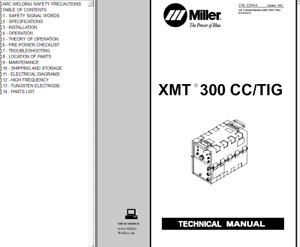 Miller Xmt 300 Cc Tig Service Technical Manual