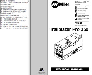 Miller Trailblazer Pro 350 Service Technical Manual