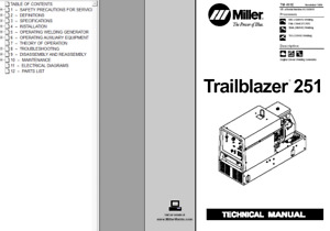 Miller Trailblazer 251 Service Technical Manual