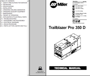 Miller Trailblazer Pro 350 D Service Technical Manual