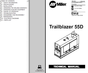 Miller Trailblazer 55d Service Technical Manual