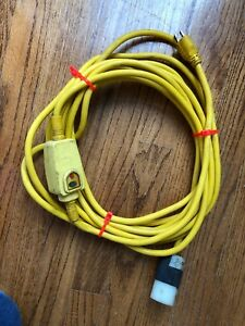 Spartan Commercial Sewer Machine Electrical Cord Yellow 1007 Hdi dv 15 3 f