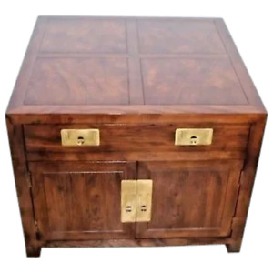 Henredon Furniture Folio 16 Chinese Asian Influenced Style Chest End Table
