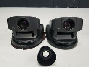 Lot Of 2 Sony Evi d30 Ccd Video Camera 12x Variable Zoom W Extra Lens Cda