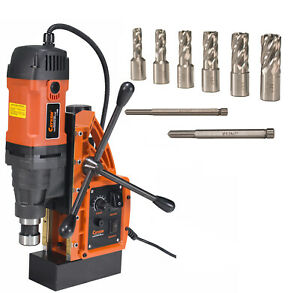 Cayken Scy 42hd Magnetic Drill Press With 7pc Small Diameter 1 Annular Cutters